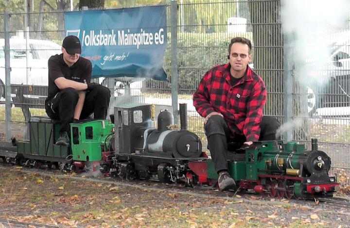 Dampf - Modell - Bahn von G. Karl Erste Probefahrt der Tasman. Garrat K1 (Spur 5) von Jakob Helf